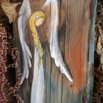 Anioł Tradycji - prezent na komunię dla dziewczynki| Angel painted on wood