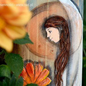 """""""Anioł Sumienności"""" malowany na drewnie - prezentem dla każdego sumiennego, albo takiego, któremu sumienności Anioł Sumienności dla każdego sumiennego, albo takiego, któremu sumienności brak"""