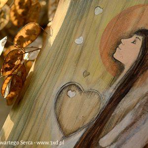   Angel painted on wood