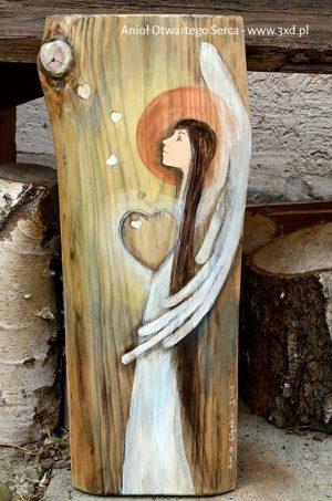 Anioł Otwartego Serca to wspaniały podarunek dla ludzi z otwartym sercem dla innych| Angel painted on wood