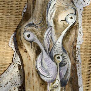 Ptasia Rodzinka | Prezent dla rodziny lub małżeństwa spodziewającego się potomstwa | autor: Elka Ciępka