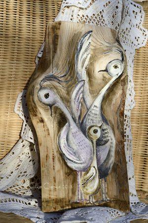 Ptasia Rodzinka   Prezent dla rodziny lub małżeństwa spodziewającego się potomstwa   autor: Elka Ciępka