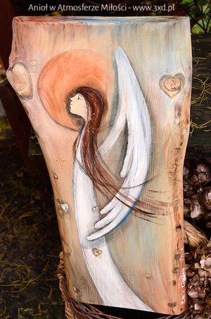 Anioł w Atmosferze Miłości | Oryginalny i niepowtarzalny Anioł ręcznie malowany na drewnie | Doskonały prezent na każdą okazję i dla każdego, komu życzymy miłości - odpowiedni zarówno na chrzciny, jak i komunię, a także na ślub oraz jako prezent w podziękowaniu dla Rodziców na weselu| Angel painted on wood