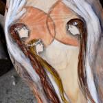 """""""Anioły Wsparcia Rodziny"""" ręcznie malowane na drewnie są symbolem wdzięczności dla Rodziców za miłość i wychowanie  Angel painted on wood"""