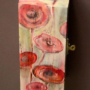 """drewniana szkatułka """"MAKOWE POLE"""" - ręcznie malowana - www.3xd.pl"""