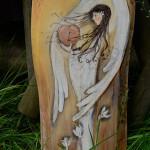 anioł - Elka Ciepka - Anioł Kochającego Serca| Dla osoby, którą kochasz | Jedyny egzemplarz takiego Anioła | Ręcznie malowany na drewnie