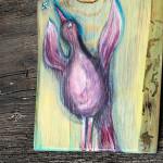 Ptaszyna - malowana na drewnie