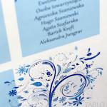TABLO z błękitnym drzewkiem