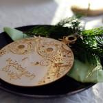 """bombka choinkowa na Boże Narodzenie z napisem """"wesołych Świąt"""" - dekoracja świąteczna"""