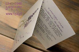 LAWENDOWE zaproszenie MAXI