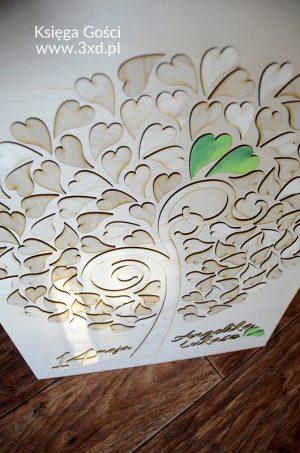 KSIĘGA GOŚCI w formie drzewka z listkami