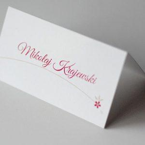 ślubna papeteria - winietki weselne