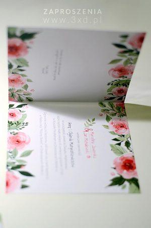 Zaproszenie akwarelowe - RÓŻANE