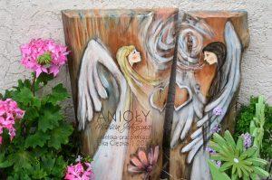 Anioły Miłością Jednoczące przeznaczone dla dwóch osób mogą byc prezentem na ślub, rocznice ślubu lub jako podziękowanie dla rodziców
