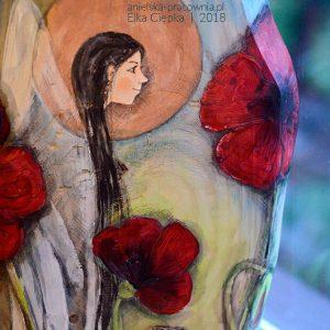 Anioł wśród Czerwonych Maków prezentem dla Babci na Dzień Babci