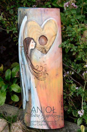 Anioł Miłością Przepełniony niesie miłość, harmonię, ciepło i spokój